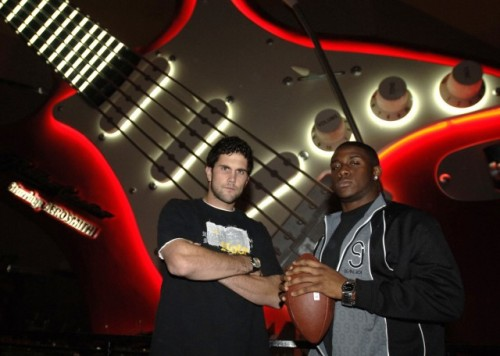 USC Teamates and 2005 Heisman Trophy finalists Matt Leinart (left) and Reggie Bush at Disney-MGM Studios Dec. 7, 2005
