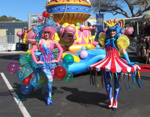 Designer costumes from the parade's finale.