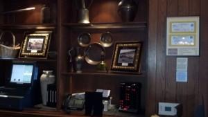 Hidden mickey in the lobby of Kouzzina