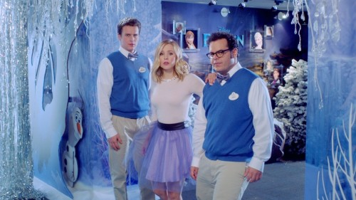 "Kristen Bell, Josh Gad and Jonathan Groff sing about the ""Making of Frozen""."