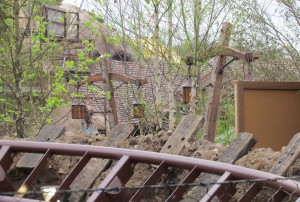 A peek into the main queue area for the ride