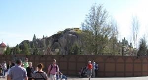Snow White Mountain is looking very muchlike a forest