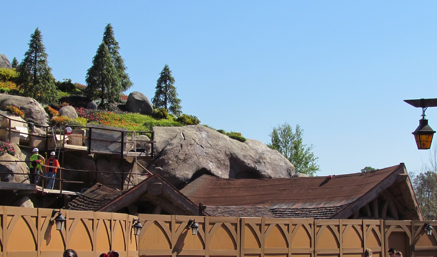 Roofing work on the exit queue areas