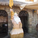 But King Triton has made an appearance. Looks 'carved' from a block of wood. Nice touch