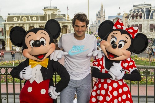 ROGER FEDERER AT DISNEY WORLD IN FLORIDA