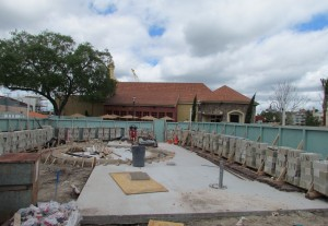 Some work going on in the plaza betwen Portobello and Fultons