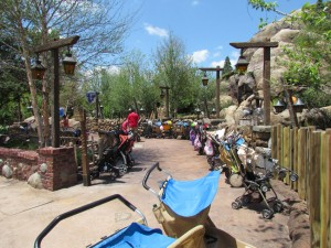 Stroller parking already full from Pooh :)