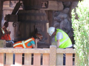 Imagineer and team working on interactive gem game
