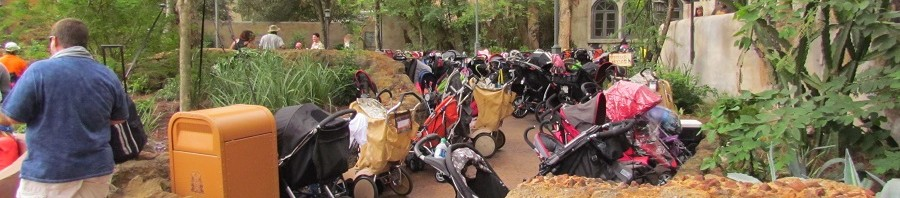 Stroller parking for both the show and Tusker House