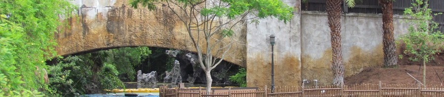 Looking toward the backstage bridge and the old fire cave. Not the path that may one day lead to Avatar