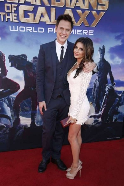 Director James Gunn with  his friend Mikayla Hoover