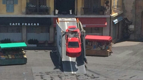 Lights Motors Action Hero Car Nearly Sheers Off Roof In