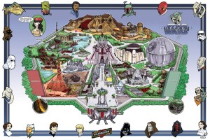 star wars theme park map by Todd Hodges