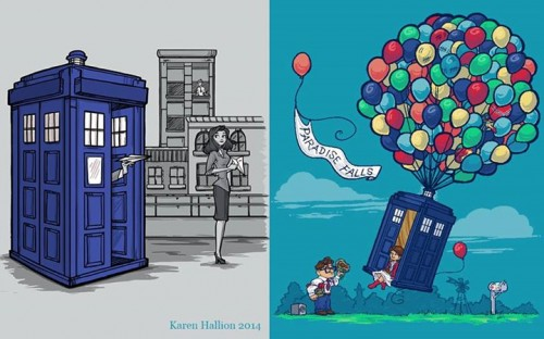 Disney Pixar And Doctor Who Crossover Tees On Tee Fury