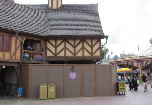 Really the final domino to drop from the New Fantasyland area. The old Dwarfs store is getting a makeover.