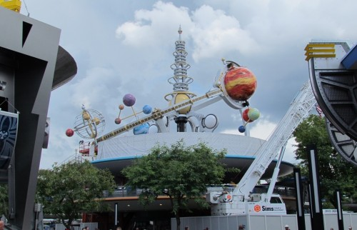 Astro Orbitor is being reassembled atop the PeopleMover