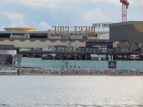 Water view of Food Truck Park construction from Sept 15.