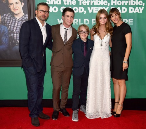 Actors Steve Carell, Dylan Minnette, Ed Oxenbould, Kerris Dorsey and Jennifer Garner
