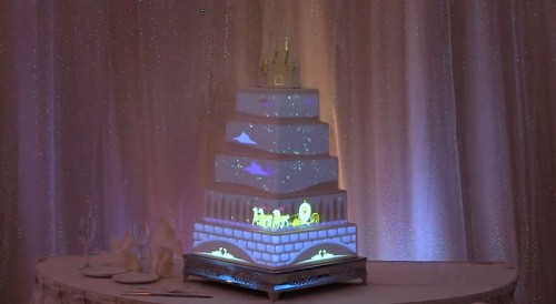 digitial-projection-disney-weddings-cake