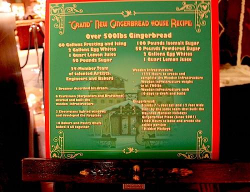 Disney's Grand Californian Gingerbread House recipe