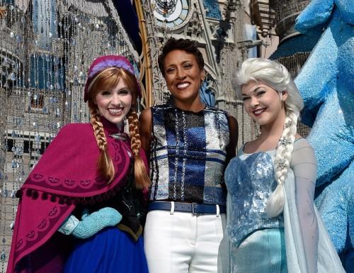 Good Morning America Anchor Robin Roberts Hosts the 2014 Disney Parks Frozen Christmas Celebration TV Special