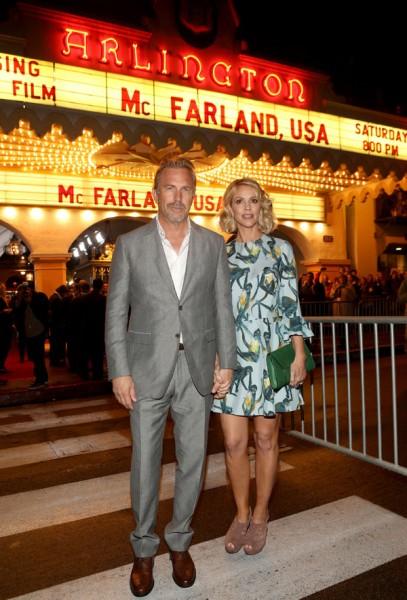Kevin Costner and his wife Christine Baumgartner