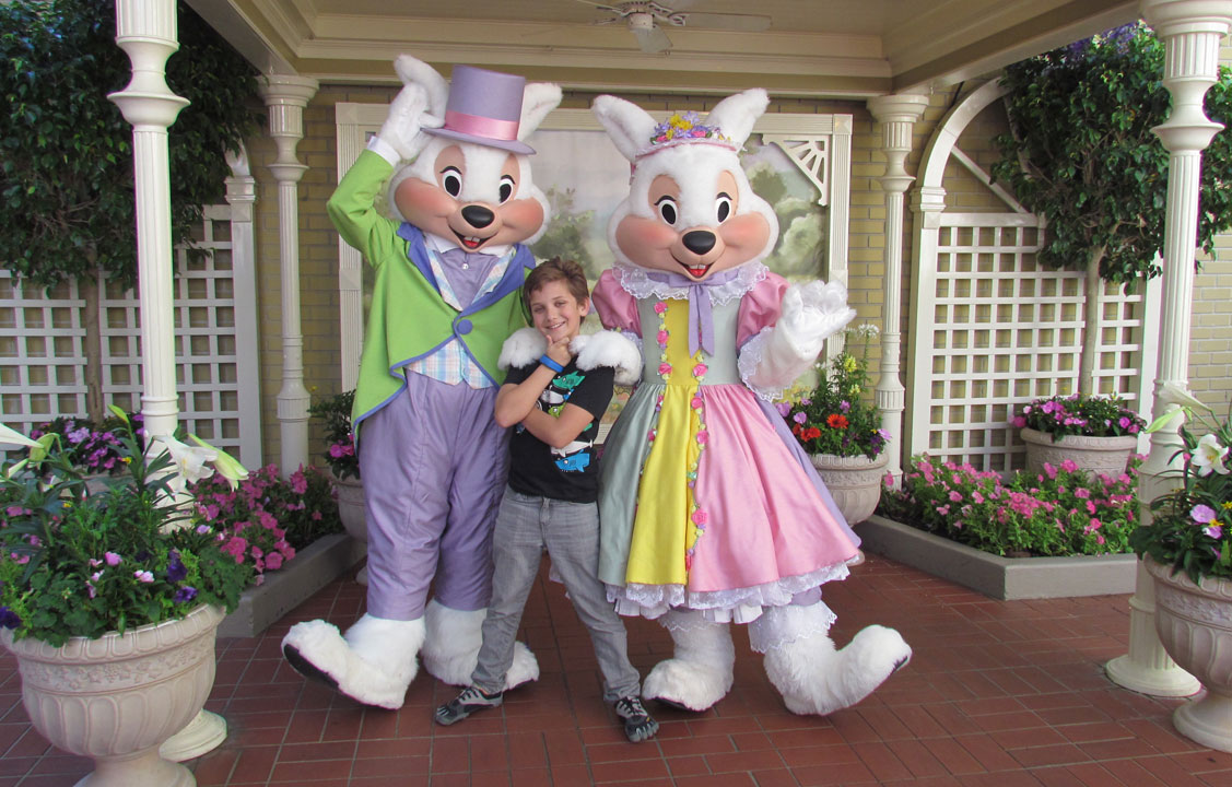 Mr and mrs easter bunny meet greet at magic kingdom the disney mr and mrs easter bunny meet greet at magic kingdom the disney blog m4hsunfo
