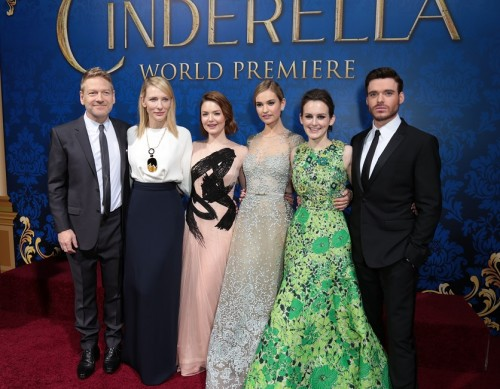Kenneth Branagh, Cate Blanchett, Holliday Grainger, Lily James, Sophie McShera (Photo: Alex J. Berliner/ ABImages)