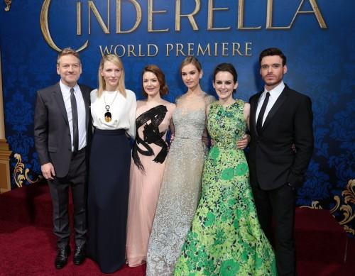 Kenneth Branagh, Cate Blanchett, Holliday Grainger, Lily James, Sophie McShera (Photo: Alex J. Berliner/ ABImages)