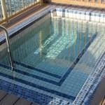 A decent size splash pool, beautifully tiled