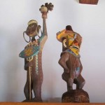 Tiki icon statues