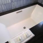 A bubble jet bath in the Master Bath