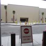 Look like this exit from AMC Theaters won't be reopening as it's now in backstage area