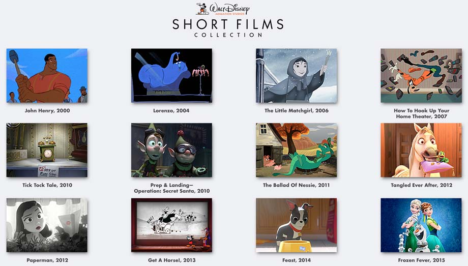 Walt Disney Animation Studios Short Films Collection  ing To Blu Raydvd on oscar award winning actors list