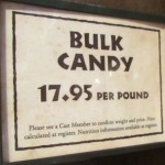 Bulk candy price (usually the advertise by the 1/4 lb. This is more upfront