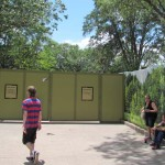 Walls have expanded to block off the path forcing you to walk-thorugh dinoland