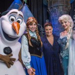 Idina Menzel visits Elsa, Anna and Olaf at Walt Disney World Res