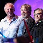 Actors Harrison Ford, Mark Hamill, Carrie Fisher and more than 6000 fans enjoyed a surprise `Star Wars` Fan Concert
