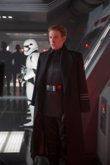 Domhnall Gleeson wears the officer look well as General Hux
