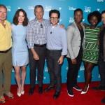 Harrison Ford, Daisy Ridley, Disney CEO Bob Iger, J.J. Abrams, John Boyega, Lupita Nyong'o, Oscar Isaac