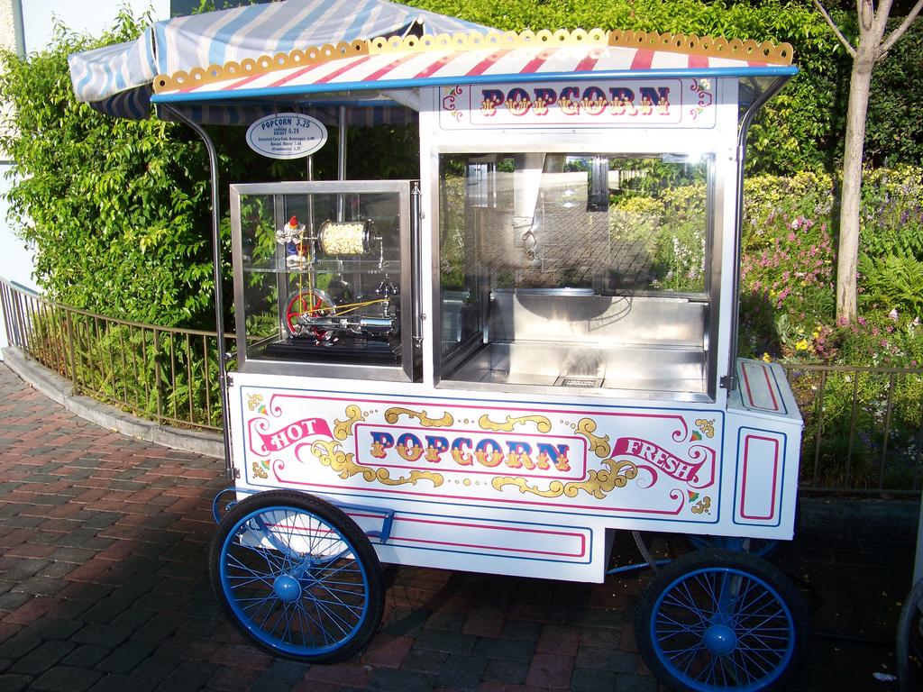 Disneyland Popcorn Vending Cart