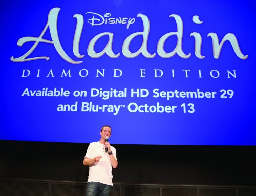 "BURBANK, CA - SEPTEMBER 27: Actor Scott Weinger speaks during a special LA screening celebrating Diamond Edition release of ""ALADDIN"" at The Walt Disney Studios on September 27, 2015 in Burbank, California. (Photo by Jesse Grant/Getty Images for Disney)"