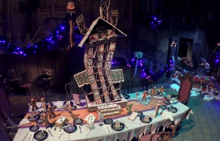 haunted mansion holiday house of cards disneylands haunted mansion holiday with its nightmare before christmas - Nightmare Before Christmas Gingerbread House