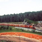The Walt Disney World railroad passing by expansion work for the Grad Prix Raceway