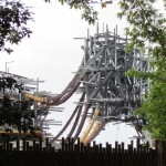 A closer look at one of the massive floating mountains and the vines that will hide the supports