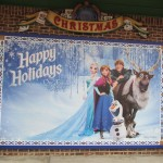 Fun family photo spot for Frozen holiday cards
