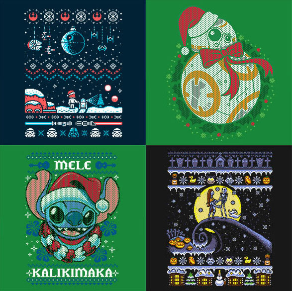 Ugly Christmas Sweaters - Disney style