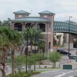 The pedestrian bridge from cast parking is now open