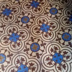 A beautiful tile pattern on the floor
