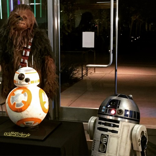 Chewbacca, R2-D2 and BB-8 cake at Code.org and Disney's Star Wars Hour of Code